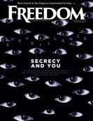 Freedom Magazine. The Data Demon issue cover
