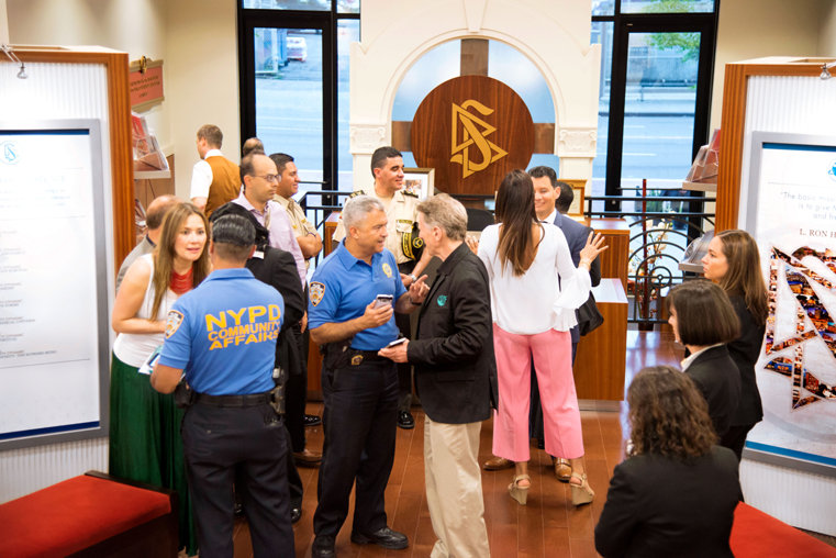 Church of Scientology Harlem tours New York Police and community leaders