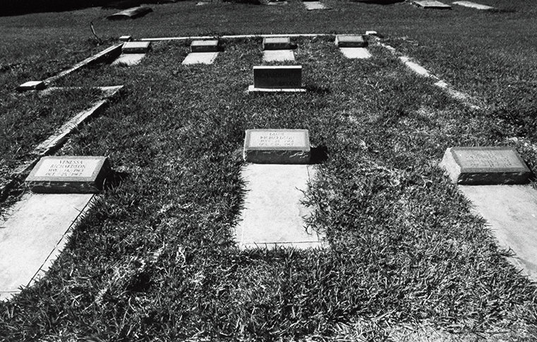 Graves of the seven Richardson children.