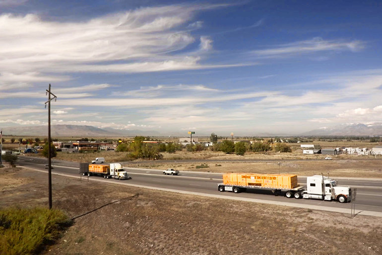 "The ""Something Can Be Done About It"" convoy carries 200 tons of building supplies, donated by KSL and Bonneville Radio viewers and listeners. The convoy itself was organized and paid for by the Scientology Volunteer Ministers."