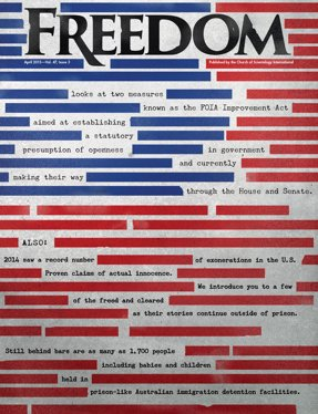 Freedom Magazine. Freedom of Information Act issue cover